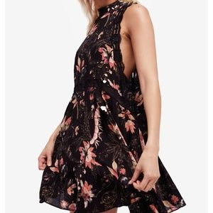 Free People She Moves Chemise Mini Dress